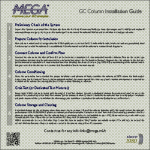 MEGA GC Column Installation Guide